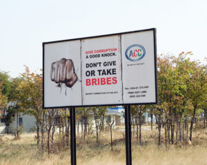 An anti-corruption billboard in Namibia